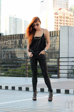 black Topshop pants