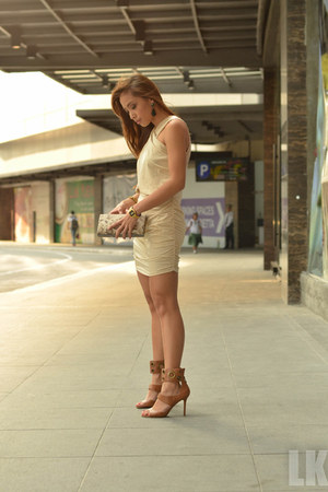 brown heels Charles and Keith shoes