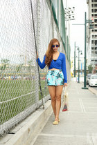 blue Forever 21 shorts