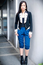 black given as a gift blazer - blue Depaige Manila pants - black Topshop shoes