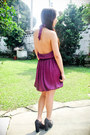 Purple-forever-21-dress-black-forever-21-purse-black-forever-21-shoes