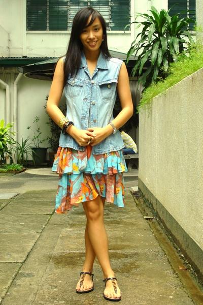 Zara vest - bangkok dress - shoes - accessories - accessories