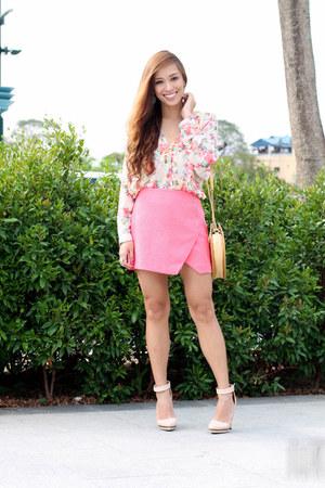 bubble gum Forever 21 skirt