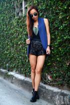 blue Zara vest