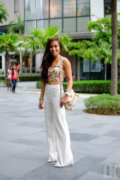 white Forever 21 pants