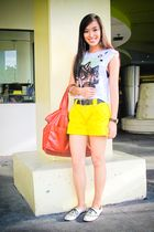 white cropped Pink Manila top - beige brogues ichigo shoes