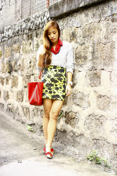 yellow Forever 21 skirt