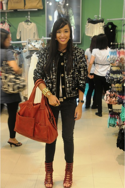black from the US blazer - white Topshop top - black Mango jeans - red bought on