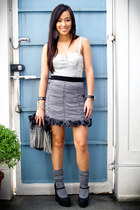 black mary janes Forever 21 shoes - gray used as a top Forever 21 dress