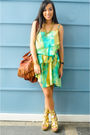 Green-bought-from-a-bazaar-dress-gold-michael-antonio-shoes-gold-accessories