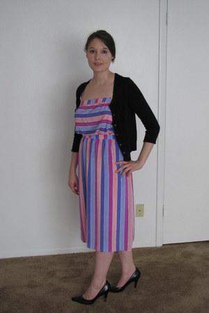 periwinkle polyester Sterling Cooper dress - neutral dress - pink dress - violet
