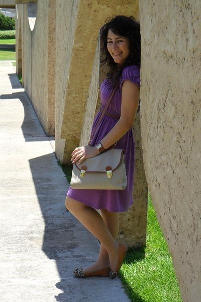purple cotton toronto dress - neutral leather Ebay bag