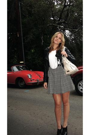 Zara jacket - H&M shirt - vintage skirt - Michael Kors shoes