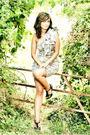 Brown-blanco-shoes-mango-dress