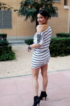 white H&M dress - black Zara shoes