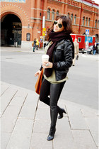 H&M boots - H&M leggings - H&M jacket - H&M sweater - H&M bag