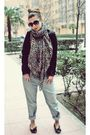 Levis-jeans-black-stradivarius-blazer-black-mango-h-m-scarf