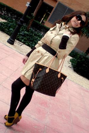 brown my grandmother stockings - brown Louis Vuitton - beige BLANCO - beige Vint
