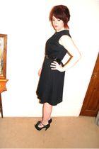 black dress - black Office shoes