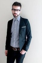 navy St Micheal shirt - black Cheap Monday jeans - black Yesstyle blazer