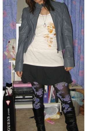 Forever New jacket - Dirty Jane top - Mossimo skirt - Sportsgirl tights - SMNY b