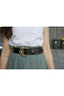 White-cut-out-op-shop-t-shirt-black-op-shop-belt