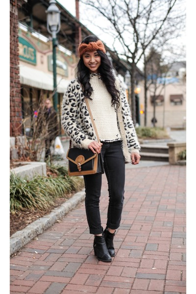 H&m Boots Fuzzy Cardigan