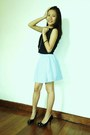 Armani-exchange-top-striped-aeropostale-skirt-forever-21-pumps-love-random