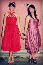 red polka dots vibtage dress