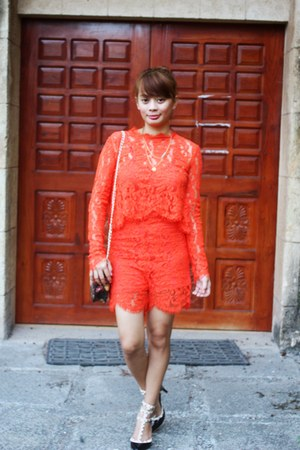 carrot orange StyleMoi romper