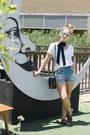 Blue-denim-shorts-asos-shorts-white-grana-t-shirt-black-misano-sandals