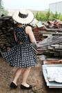 Black-wide-brim-straw-op-shopped-hat-black-anchor-print-op-shopped-dress