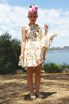 ivory floral backless Little Gracie dress