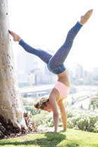blue Lululemon leggings - pink Lululemon bra