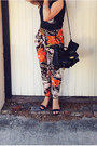 Black-colette-bag-black-ombre-rummage-sunglasses-orange-pants