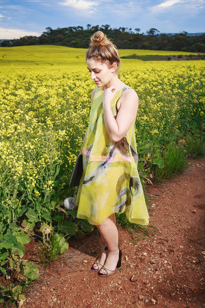 yellow Elle Campbell dress