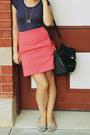 Zara-skirt-colette-bag-flats-vintage-t-shirt