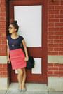 Colette-bag-flats-zara-skirt-vintage-t-shirt