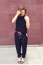 maroon Maurie & Eve pants - black Maurie & Eve top - black betts heels