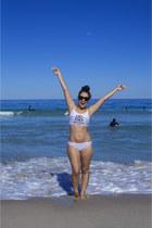 navy 90s bikini Stussy swimwear