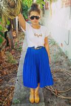 yellow faux suede Novo heels - white boyfriend fit asos t-shirt