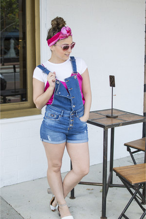blue dungarees Superdry romper