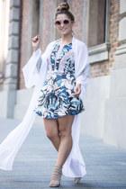 neutral Pared sunglasses - white kimono Jonte cape