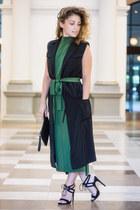 black Staple the Label coat - olive green Bul dress - black asos heels