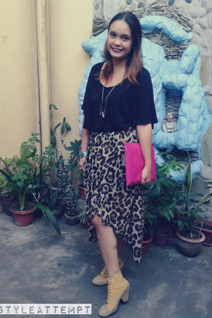 brown leopard print DressDiaries Shop skirt