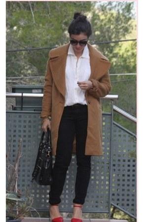Zara coat - Stradivarius jeans - Nine West bag