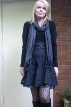 Kookai shirt - Review skirt - Country Road scarf - Midas boots - leona edminston