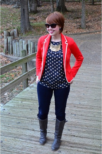 Gap blazer - Target boots - blue cords Gap pants