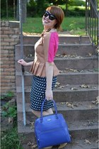 polka dot banana republic skirt - gold magenta Versona Accessories necklace