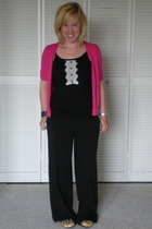 Mossimo top - Ann Taylor Loft sweater - Mossimo pants - Fossil Watch accessories
